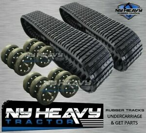 287b Caterpillar Undercarriage Kit 4 Idlers 2 Rubber Tracks 2616302 2208161 Cat