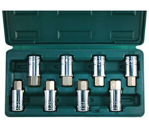 Atd 8pc Large Hex Bit Socket Set Sae And Metric Lifetime Warranty 13788