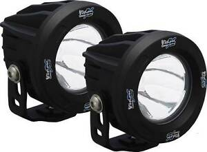 Vision X Optimus Round Black 1 10w Led Lights Pair 10 Degree Spot W Harness 4x4