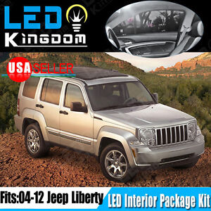 18pcs Super White Smd Led Lights Interior Package Kit For 2004 2012 Jeep Liberty