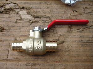 Watts 4 3 4 To 3 4 Pex Crimp Brass Ball Valve Inline Full Port Lfwpbv 12 New
