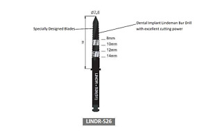 Dental Implant Lindeman Bur Drill Lindr s26 b303 1