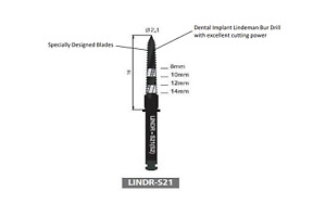Dental Implant Lindeman Bur Drill Lindr s21 b304 1