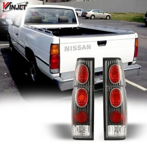 Winjet Altezza Tail Lights For 86 97 Nissan Pickup D21 Hardbody Black Clear