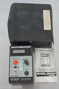 Extech 380301 Digital High Voltage Insulation Continuity Meter Tester