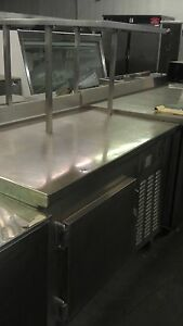 Stainless Steel Worktop Refrigerated Unit With Shelf