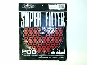 Hks Smf Air Intake Replacement Filter 200mm Red Wet Element