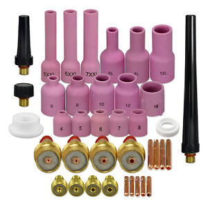 Tig L g Gas Lens Collet Body Assorted Kit Fit Tig Welding Torch Wp 9 20 25 38pk