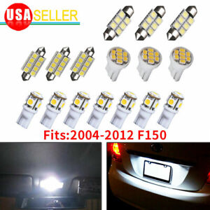 16pcs White Led Bulb Interior Lights Package Kit For 2004 2011 2012 Ford F150