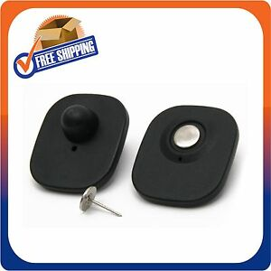 500 Checkpoint Security Compatible Rf 8 2mhz Mini Tag Black W pin Eas Anti theft