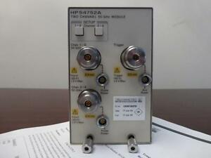 Agilent Hp 54752a 50ghz Dual Channel Electrical Module 86100 83480 Calibrated