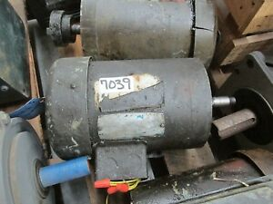 Ac Electric Motor 1 1 2hp 3450 Rpm 208 230 460v 3 60 56c Fr Tefc Encl