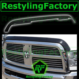 10 15 Dodge Ram 2500 3500 Hd Smoke Black Hood Shield Guard Bug Air Deflector