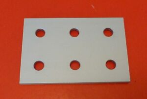 80 20 8020 Equivalent Aluminum 6 Hole Joining Plate 10 Series P n 4166 New