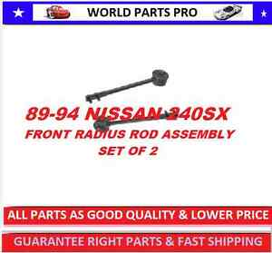 Front Control Arm Radius Rod Assembly Nissan240sx 89 94 Fits 240sx 89 94 Set 2