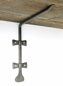Hand Forged Shelf Bracket Wrought Iron Antique Made Wall Wood Glass Holder Book