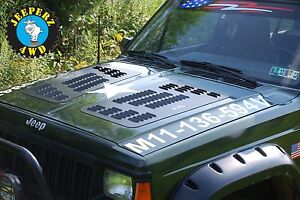 Louvered Hood Panels For Jeep Xj Cherokee Xj Hood Vents made In The Usa