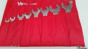 Imperial Super Thin Open End Spanner Wrench Set 8 Pce T e Tools New 99308