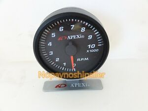 Apexi Jdm Racing E l Ii System 10k Rpm Meter Mechanical Gauge Black white Face