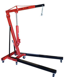 2 Ton Folding Manual Hydraulic Cherry Picker Engine Crane Shop Press Hoist Lift