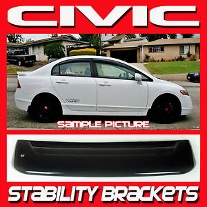 2006 2011 Honda Civic Sedan 4dr Rear Roof Window Visor Spoiler With Brackets Fd