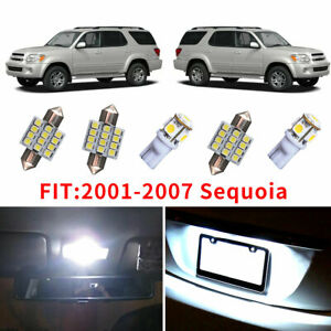 17x Super White Led Light Bulb Interior Package Kit For 2001 2007 Toyota Sequoia