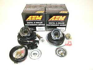 Aem 2 Gauges Combo Uego 4 9lsu Wideband Air Fuel Ratio Oil Temperature