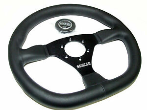 Sparco Steering Wheel L360 Ring 330mm Flat Flat Bottom Leather