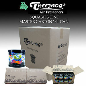 144 Can Treefrog Squash Assorted Scent Air Freshener Master Carton Tree Frog
