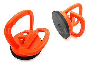 2 Mini Suction Cup Puller Dent Remover Puller Glass Metal Lifter 22lbs Capacity