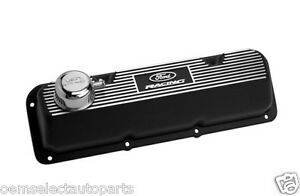 New Oem Ford Racing Black Satin Valve Cover Set Cleveland Boss 302 351c 351m 400