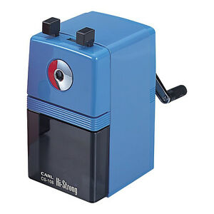 Carl Hi strong Hand cranked Pencil Sharpener Cs 108 b blue