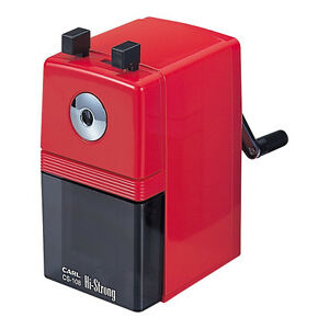 Carl Hi strong Hand cranked Pencil Sharpener Cs 108 r red