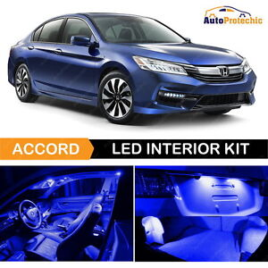 12x Led Ultra Blue Light Interior Package Deal For 2013 2018 Honda Accord Tool