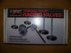 Flaming River Forged Stainless Steel True Racing Valves 2207 Sbc Intake 8pc