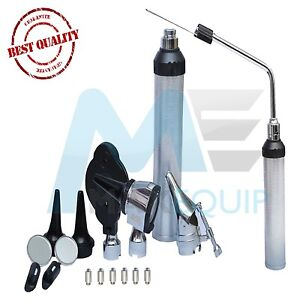 Ent Otoscope Ophthalmoscope Medical Nasal Larynx Diagnostic Set 6 Extra Bulbs Ce
