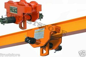 2 Ton Steel I beam Push Beam Track Roller Trolley For Overhead Garage Hoist