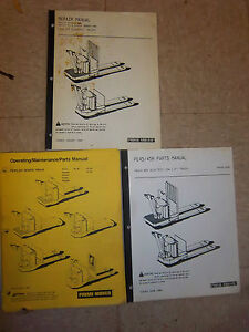 Prime Mover Pe Pallet Truck Repair Operating Maintenance Parts Manual pe45 Pe45r
