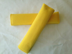 Yellow Car Seat Belt Cover Cushion Shoulder Harness Pads Auto Vehicle Padded