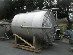 2 500 Gallon Stainless Steel Jacketed Insulated Tank