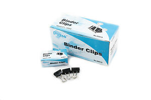 New 144 Pcs 15mm 5 8 Binder Clips Small Size Metal Paper Binding Office 12 Doz