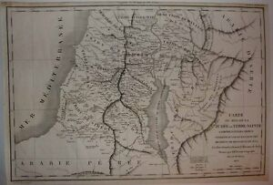 1822 Fremin Biblical History Map Kingdom Of Judah Environs Post Solomon Era