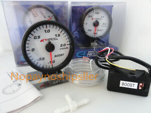 Apexi Jdm E l Ii System Car Truck Racer Electronic Boost White Gauge Meter