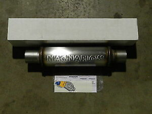 New Magnaflow Universal Stainless Steel Muffler 10416 2 5 inlet outlet Fast Ship