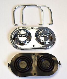 1967 1982 Corvette Master Cylinder Cover Chrome W Bails Gaskets Ready To Ship