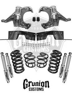 Chevy C10 1971 1972 3 5 5 Lowering Kit Spindles Coils C Notch Shocks Mcgaughys