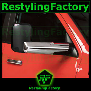 Triple Chrome Towing Mirror For Arm Cover For 10 18 Dodge Ram 1500 2500 3500 hd