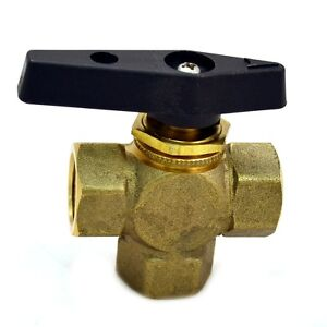 Brass Ball Valve 3 Way Female Npt 1 2 Lead Free Panel Mount Option