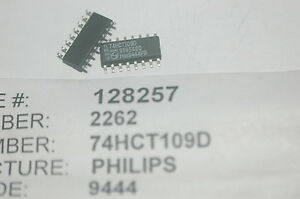 Philips 74hct109d Flip Flop Jk type Pos edge 2element 16 pin Smd New Lot Qty 10