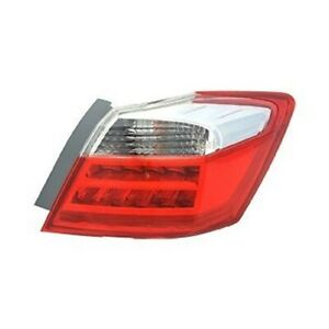 For 2013 2014 Honda Accord Sedan Ex L Touring Passenger Side Outer Taill